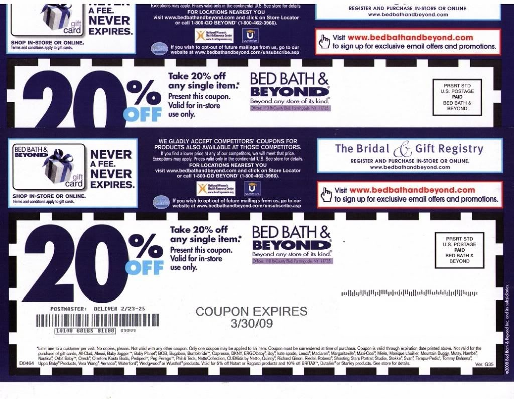 Bed Bath And Beyond Coupon Code | Bed Bath And Beyond Coupon | Bath - Free Printable Bed Bath And Beyond 20 Off Coupon