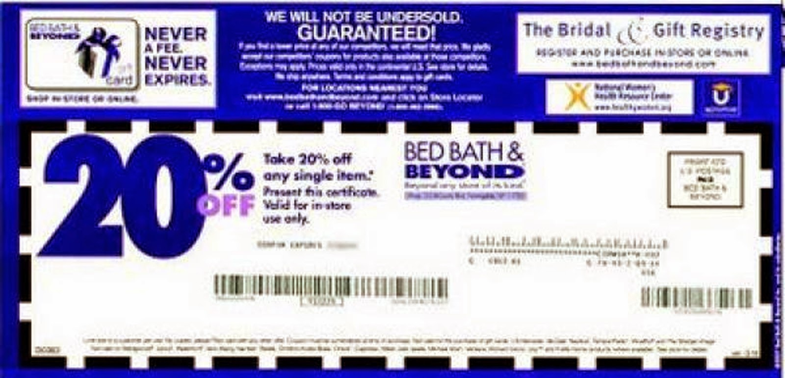 Bed Bath And Beyond Coupons | Bed Bath And Beyond Coupons - Free Printable Bed Bath And Beyond 20 Off Coupon