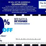 Bed Bath And Beyond Coupons   Free Printable Bed Bath And Beyond 20 Off Coupon