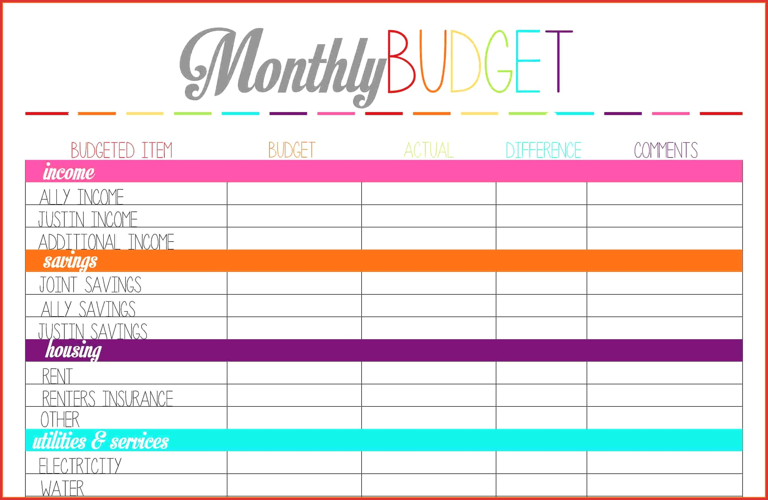 Best Of Budgeting Worksheets | Dos Joinery - Free Printable Budget Worksheets
