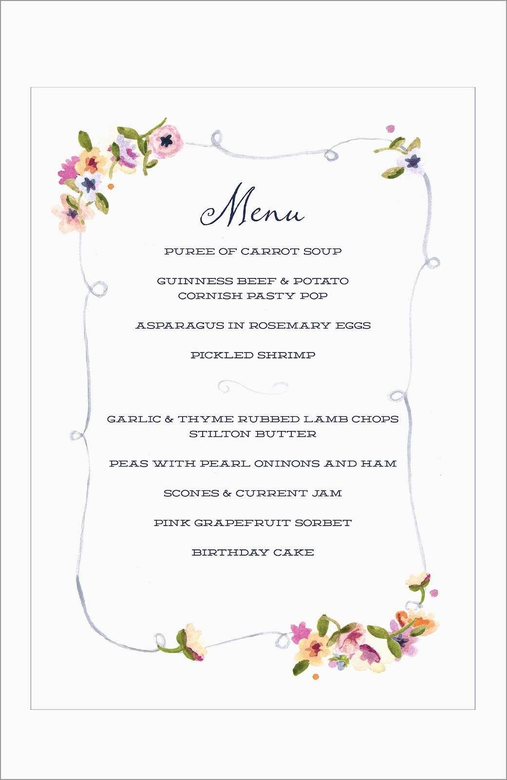 Best Of Free Printable Dinner Party Menu Template | Best Of Template - Free Printable Dinner Party Menu Template
