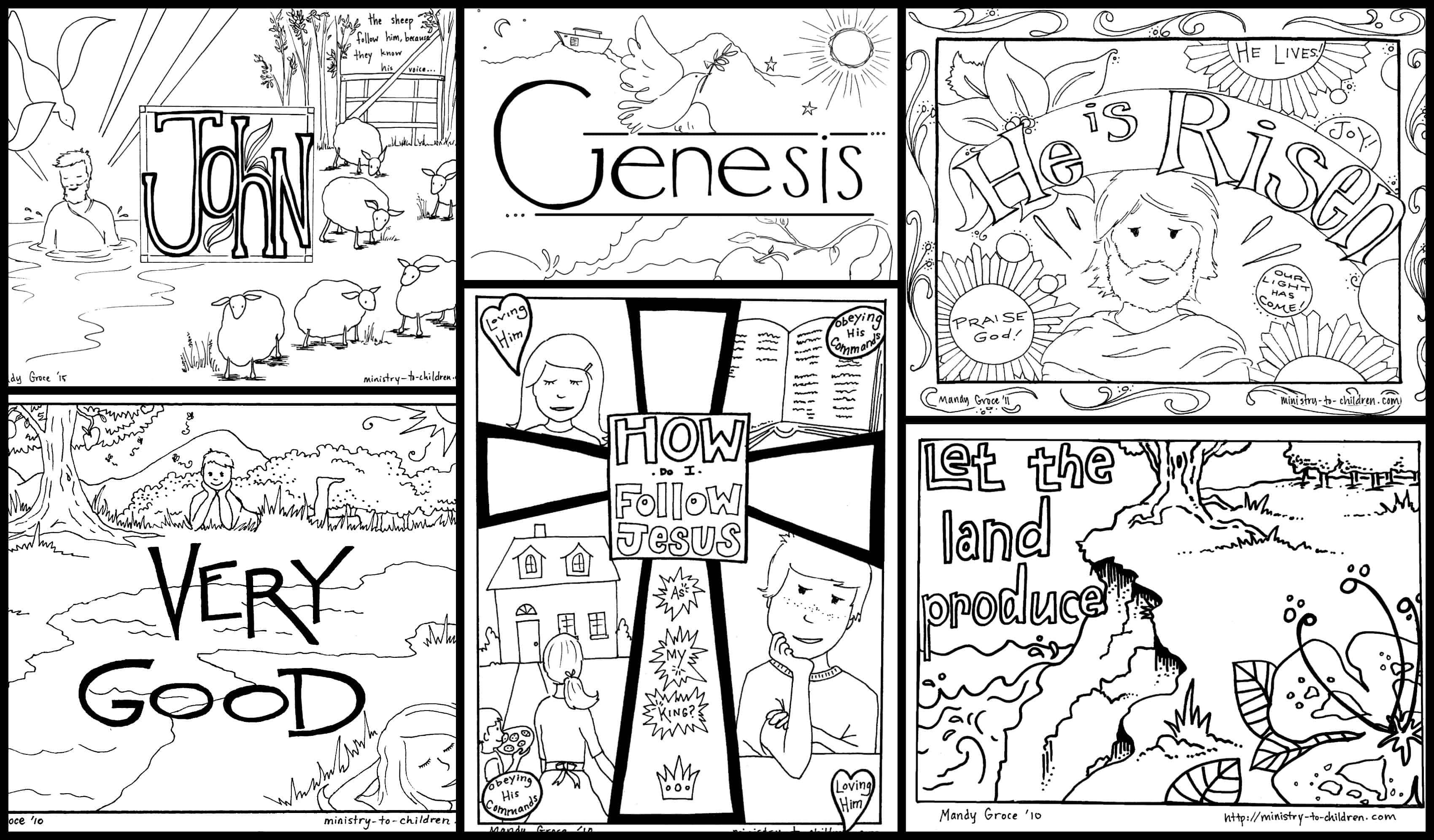 Bible Coloring Pages For Kids [Free Printables] - Free Printable Children's Church Curriculum