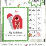 Big Red Barn Activities And Printables For Prek And Kindergarten   Free Printable Story Books For Kindergarten