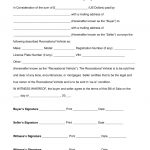 Bill Of Sale Rv   Kaza.psstech.co   Free Printable Bill Of Sale For Trailer