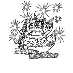 Birthday Coloring Cards Free Printable   Free Printable Birthday Cards To Color