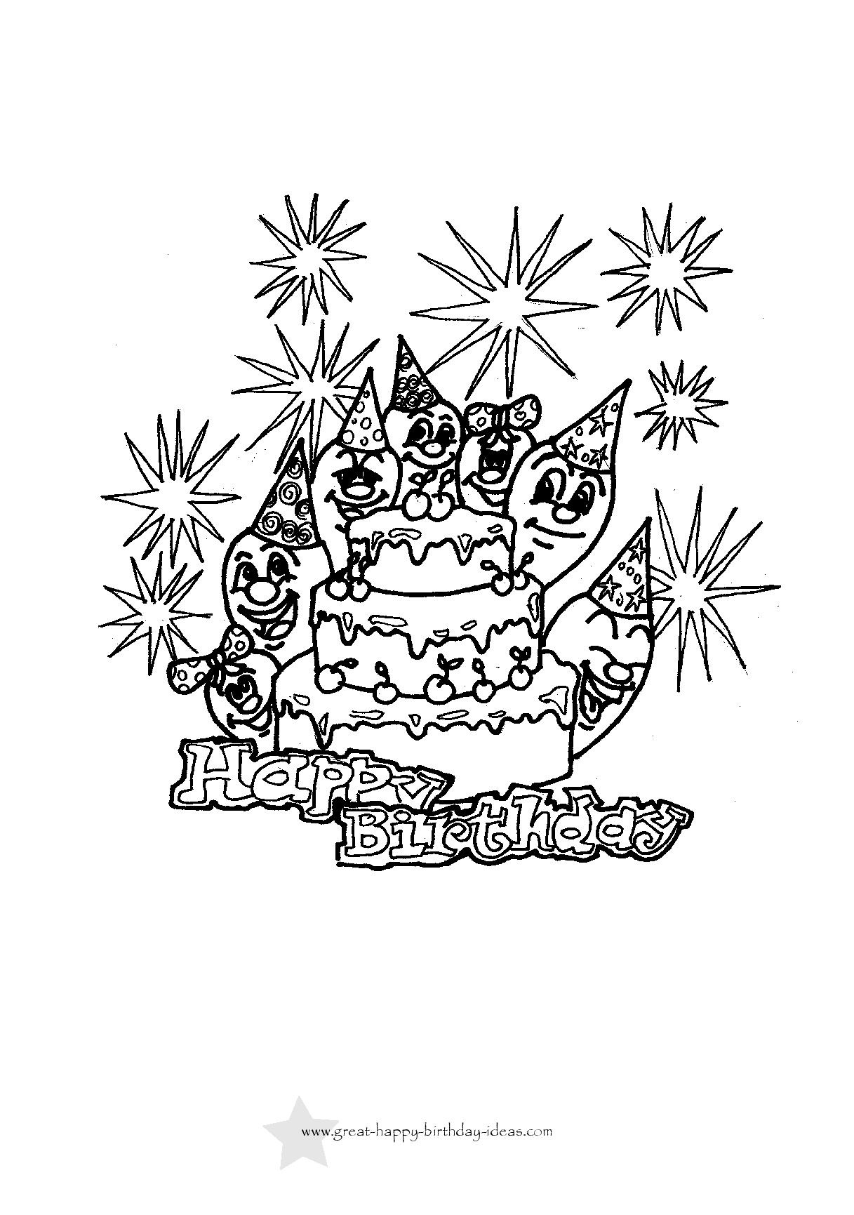 Birthday Coloring Cards Free Printable - Free Printable Birthday Cards To Color