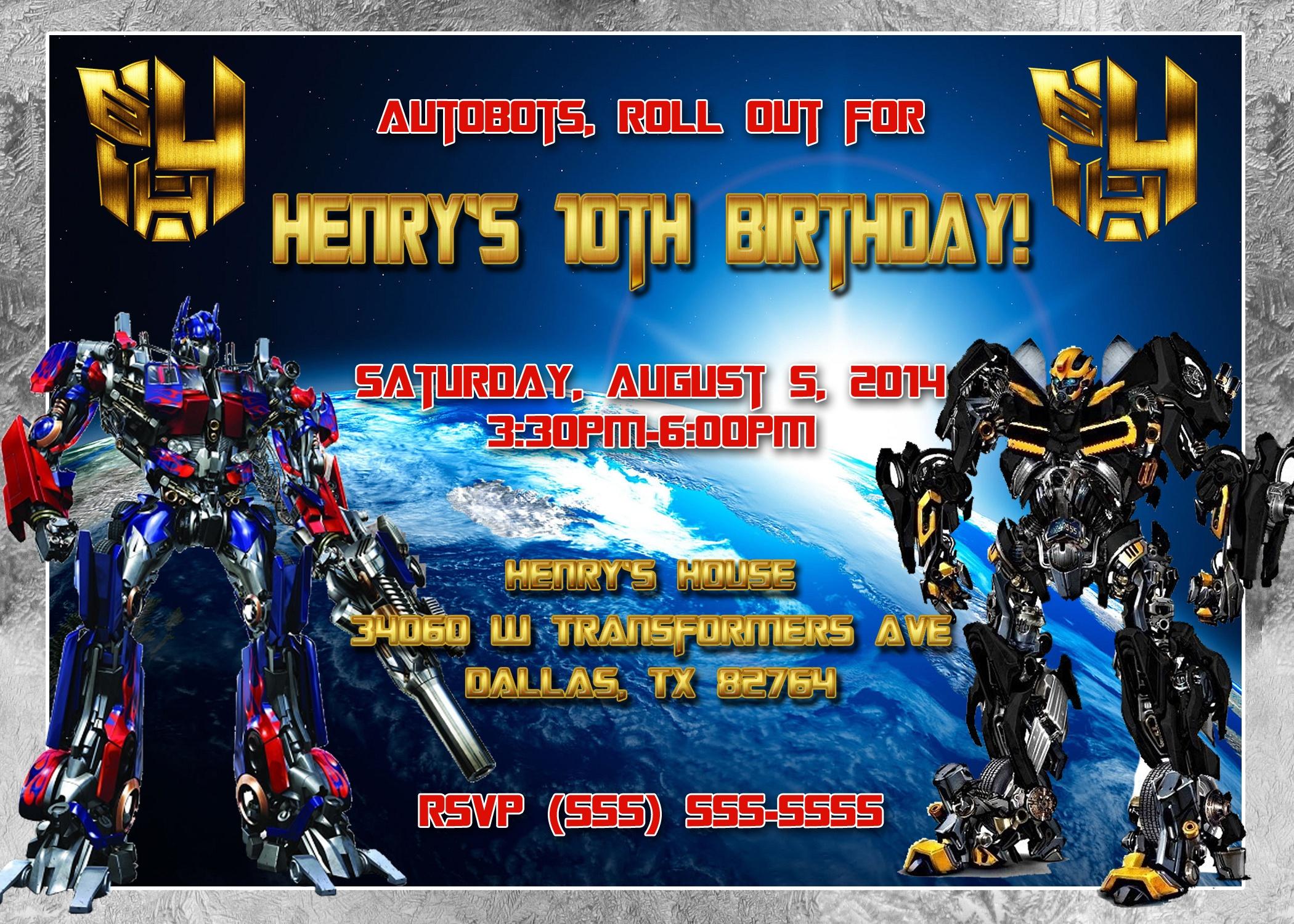 Birthday Invitation. Transformers Birthday Invitations - Lindeymagee - Transformers Party Invitations Free Printable