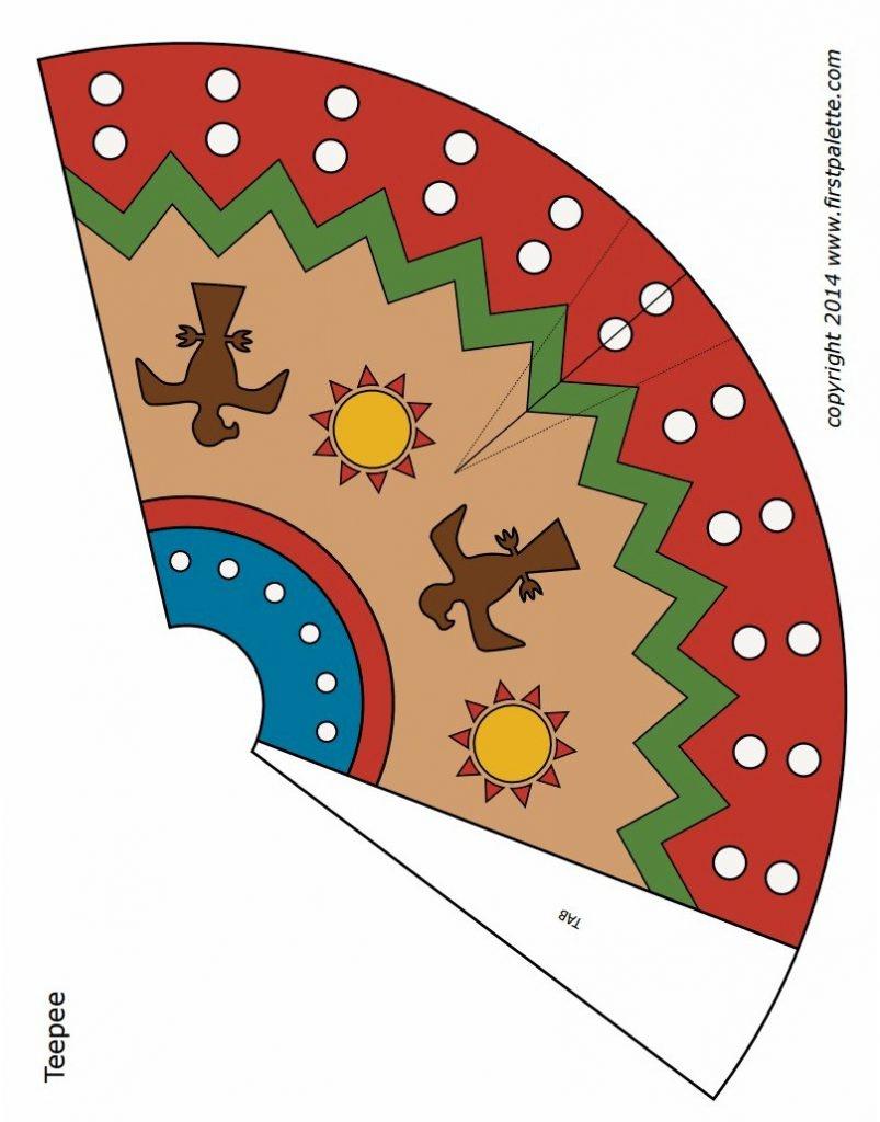 Blackfoot Paper Teepee - Free Printable Teepee