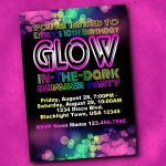 Blacklight Party Invitations   Free Printable Glow In The Dark Birthday Party Invitations