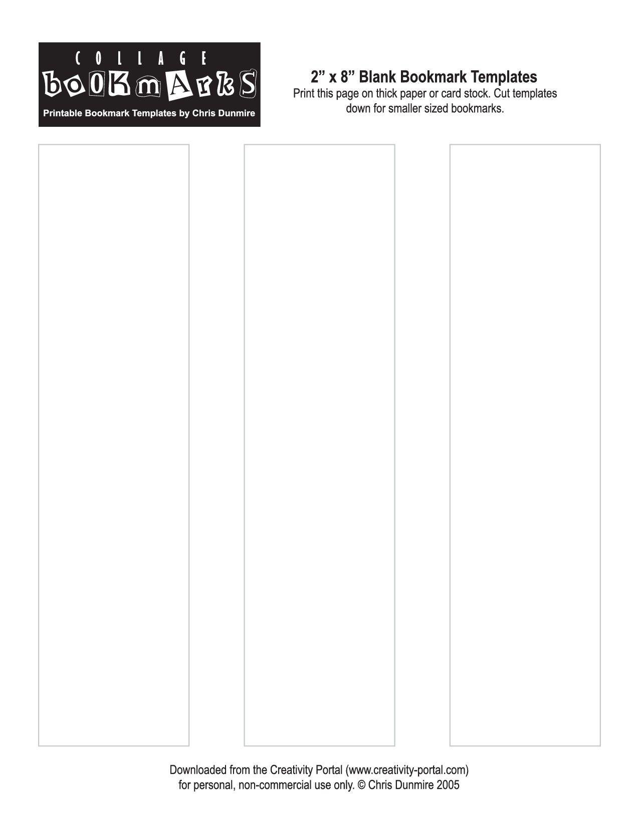 Blank Bookmark Template Printable   Printables!@!@!@   Bookmark - Free Printable Blank Bookmarks