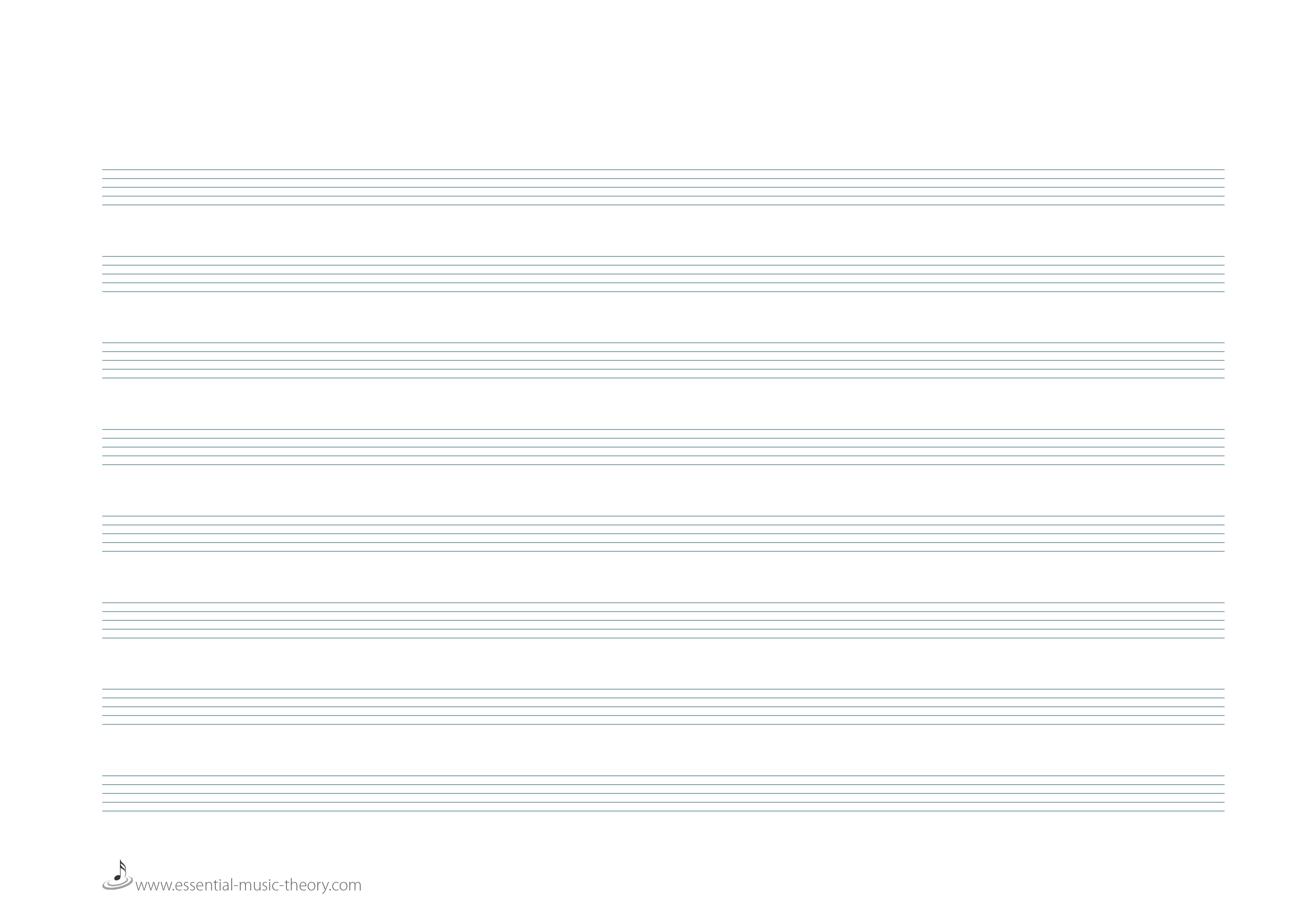 Blank Manuscript Paper - Free Printable Blank Sheet Music