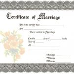 Blank Marriage Certificates | Download Blank Marriage Certificates   Fake Marriage Certificate Printable Free