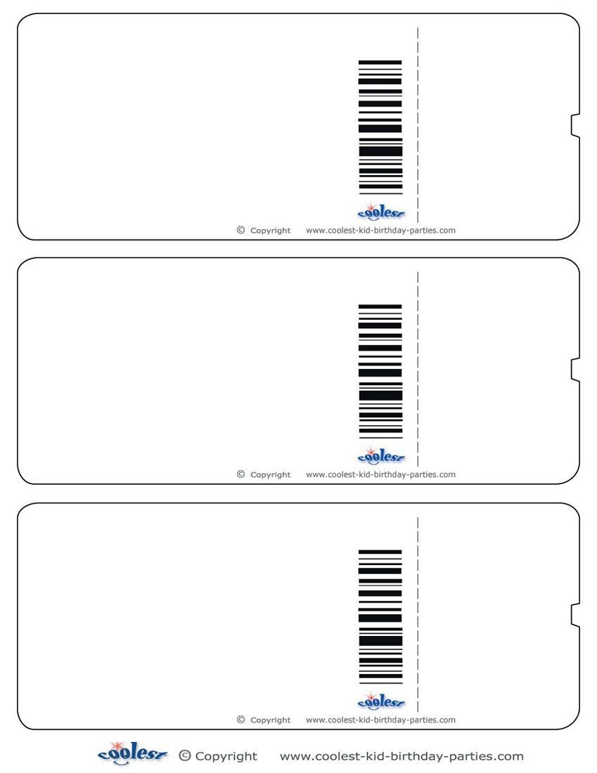 Blank Printable Airplane Boarding Pass Invitations Coolest Free - Free Printable Ticket Invitations