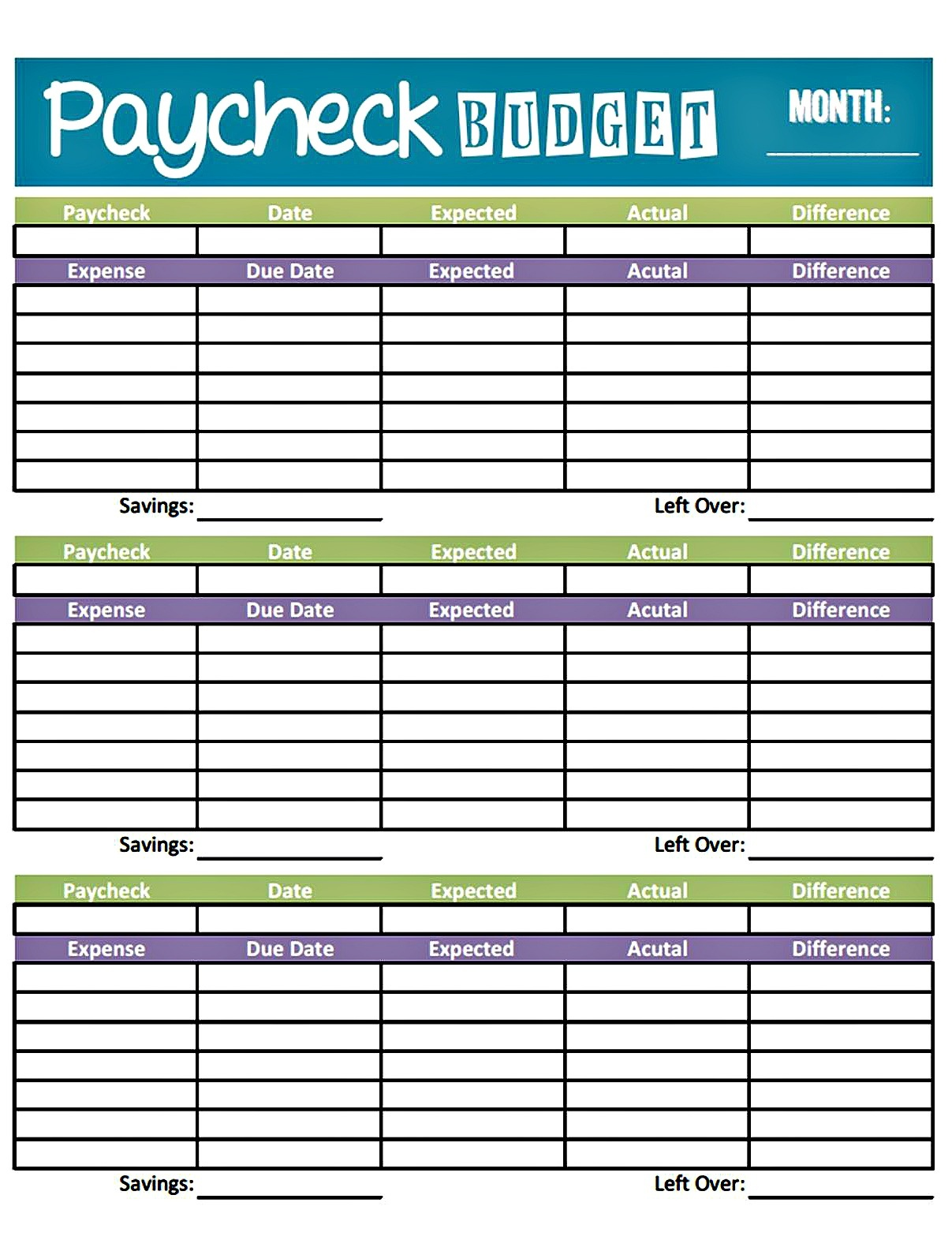 Bonfires And Wine: Livin' Paycheck To Paycheck - Free Printable - Free Printable Budget Sheets