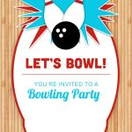 Bowling Party   Free Printable Birthday Invitation Template   Free Printable Bowling Invitation Templates