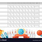 Bowling, Score & Scoreboard Vector Images (31)   Free Printable Bowling Score Sheets