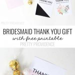 Bridesmaid Thank You Gift Printable | Michaels Weddings | Bridesmaid   Free Personalized Thank You Cards Printable