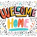 Bright Welcome Home Lettering   Download Free Vector Art, Stock   Welcome Home Cards Free Printable