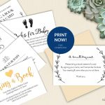 Bring A Book Instead Of Card (Free Printable!)   A Jubilee Day   Free Printable Baby Registry Cards