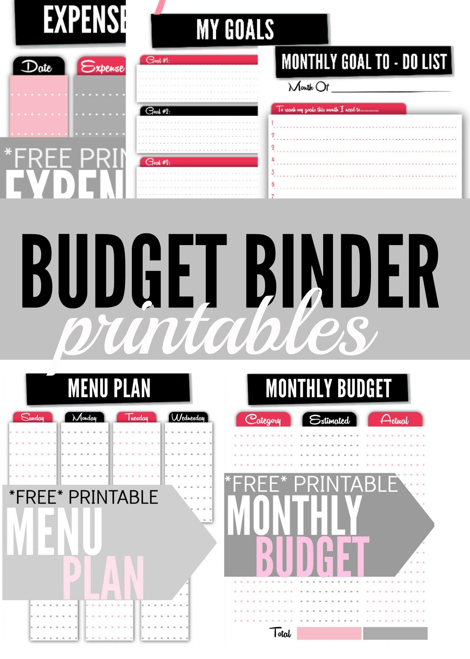 Budget Binder Printables - Single Moms Income - Free Printable Budget Binder