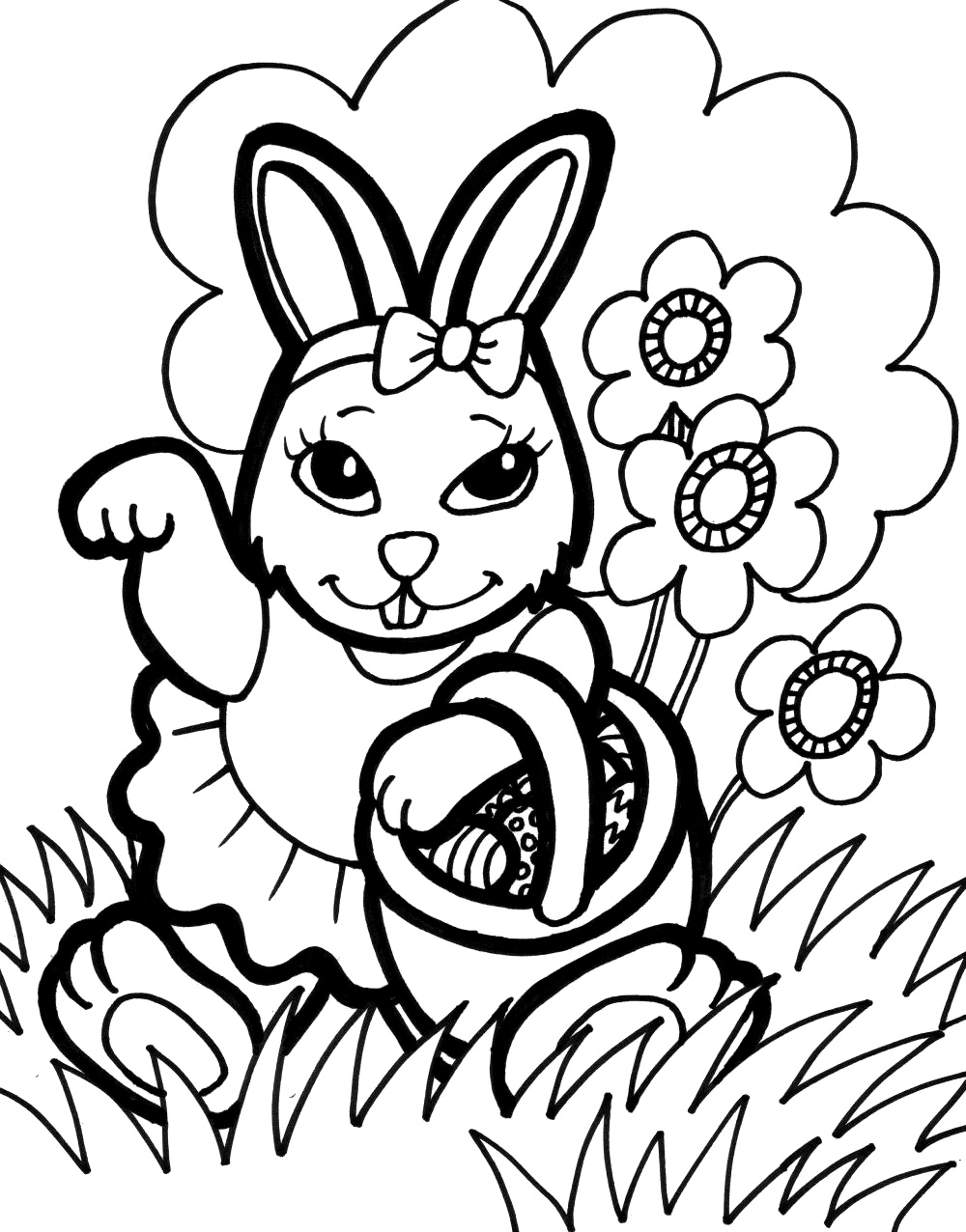 Bunny Coloring Pages - Best Coloring Pages For Kids - Free Printable Bunny Pictures