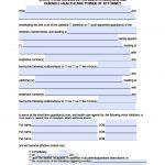 California Minor Child Power Of Attorney Form   Power Of Attorney   Free Printable Legal Forms California
