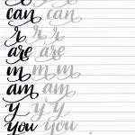 Calligraphy Letters Practice Sheets Fresh Hand Lettering Flourish   Calligraphy Practice Sheets Printable Free