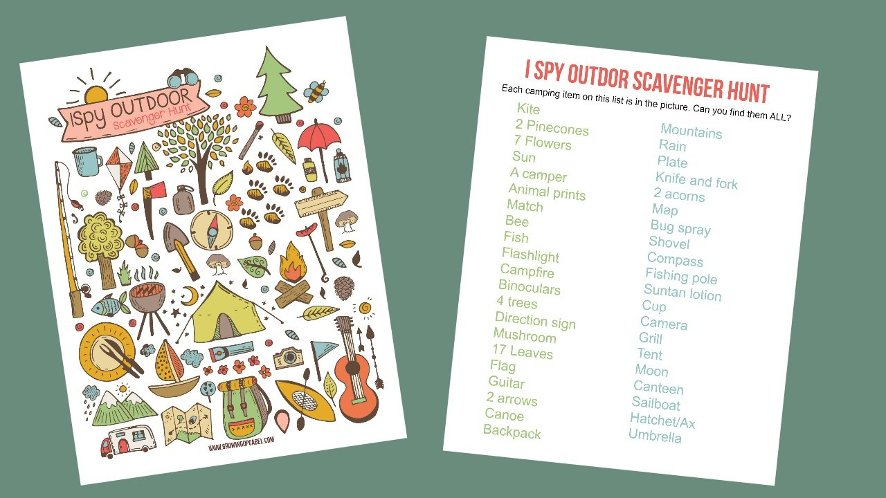 Camping I Spy Game Printable - Free Printable Camping Games