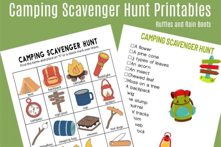 Free Printable Camping Games