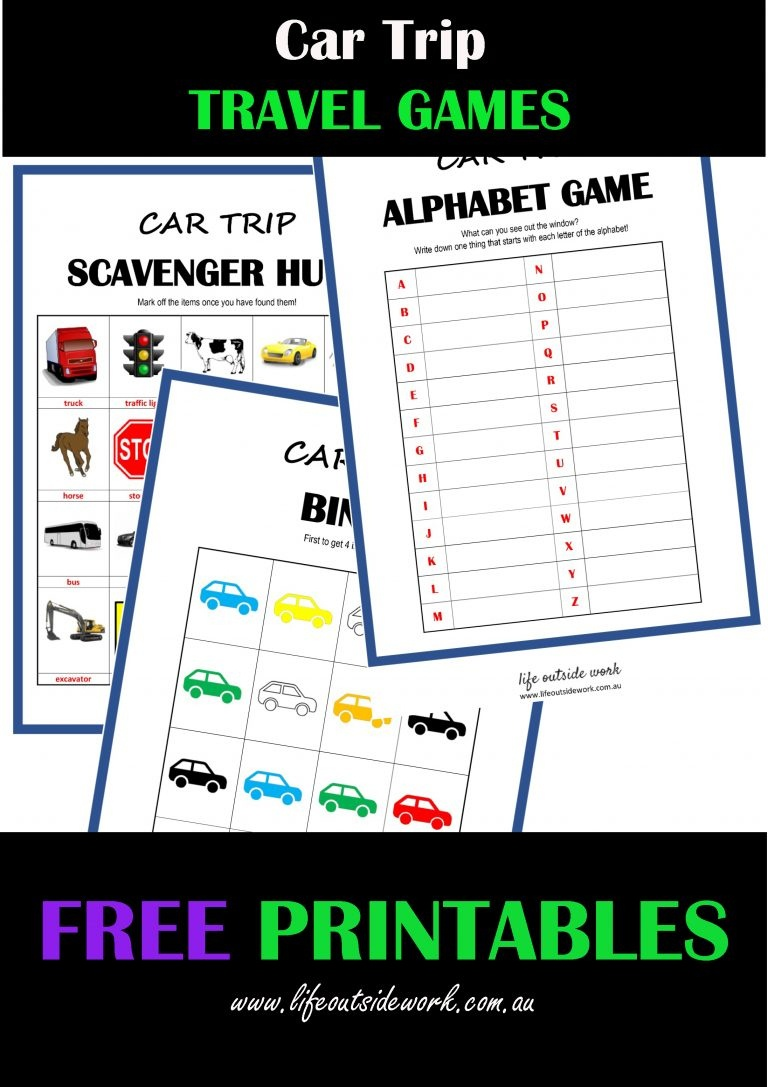 Car Travel Games + Free Printables | Life Outside Work - Free Printable Car Ride Games