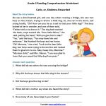 Carlo Or Kindness Rewarded Second Grade Reading Worksheets | Reading   Free Printable 3Rd Grade Reading Worksheets