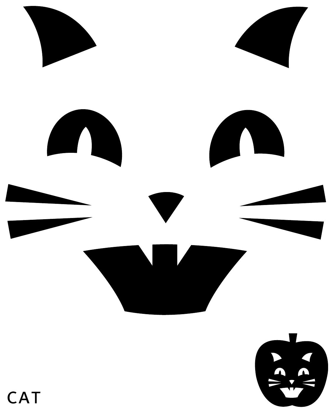 Cat Pumpkin Carving Template | Halloween | Halloween Pumpkins - Free Pumpkin Carving Templates Printable