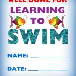 Certificate Of Achievement: Well Done For Learning To Swim | Rooftop   Free Printable Swimming Certificates For Kids