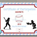 Certificates For Kids Free Best Of Softball Award Certificate   Free Printable Softball Award Certificates
