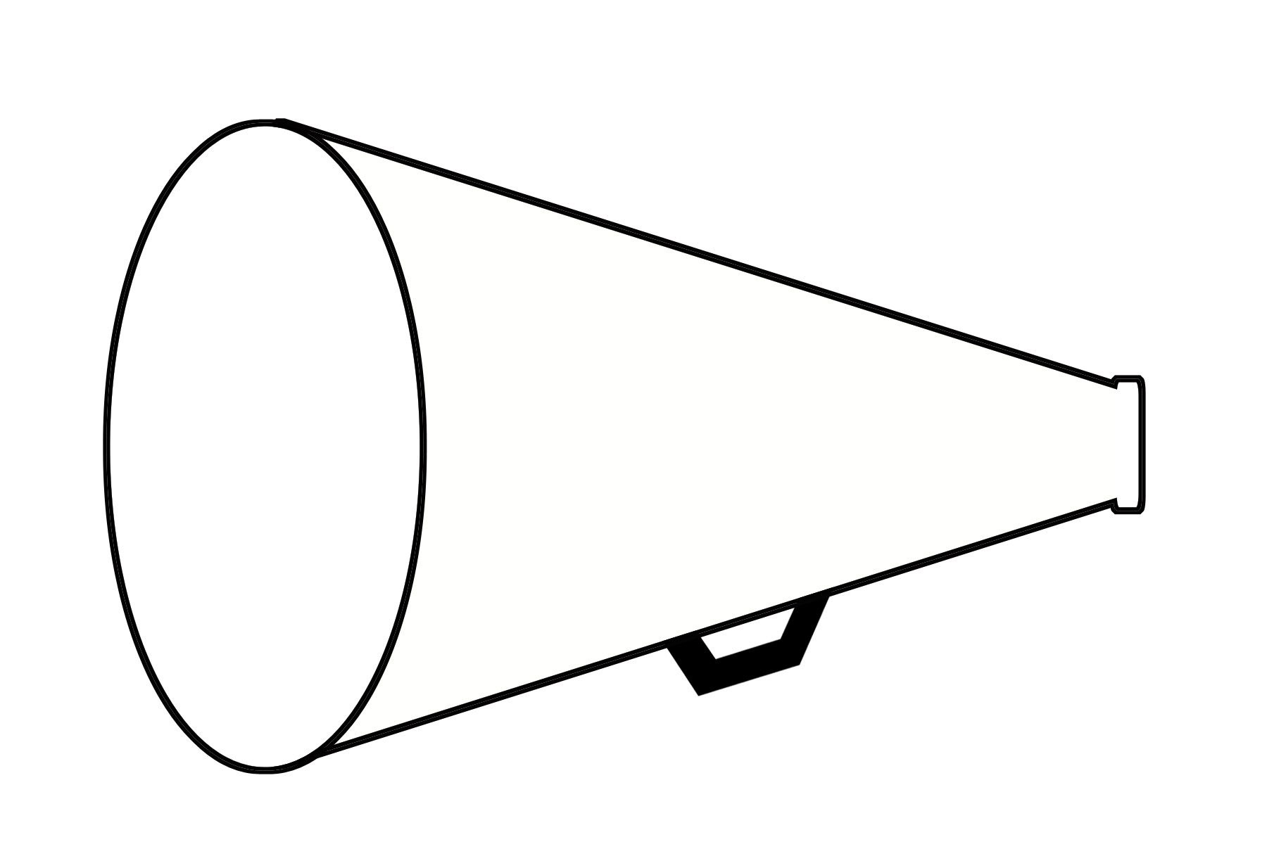 Cheerleading Megaphone And Poms Clipart Top Hd Images For Free 2 - Free Printable Megaphone Template