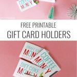 Christmas Gift Card Sleeves   Free Printable!   Free Printable Christmas Money Holders