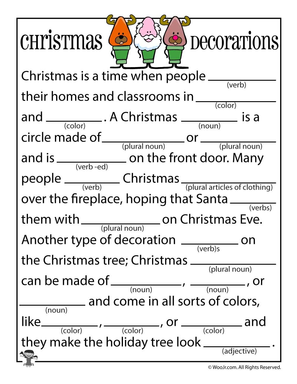 Christmas Mad Libs | Woo! Jr. Kids Activities - Mad Libs Online Printable Free
