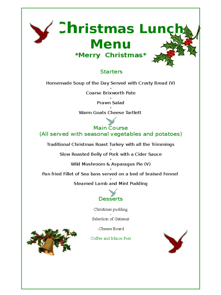 Christmas Menu Template - 17 Free Templates In Pdf, Word, Excel Download - Menu Template Free Printable Word