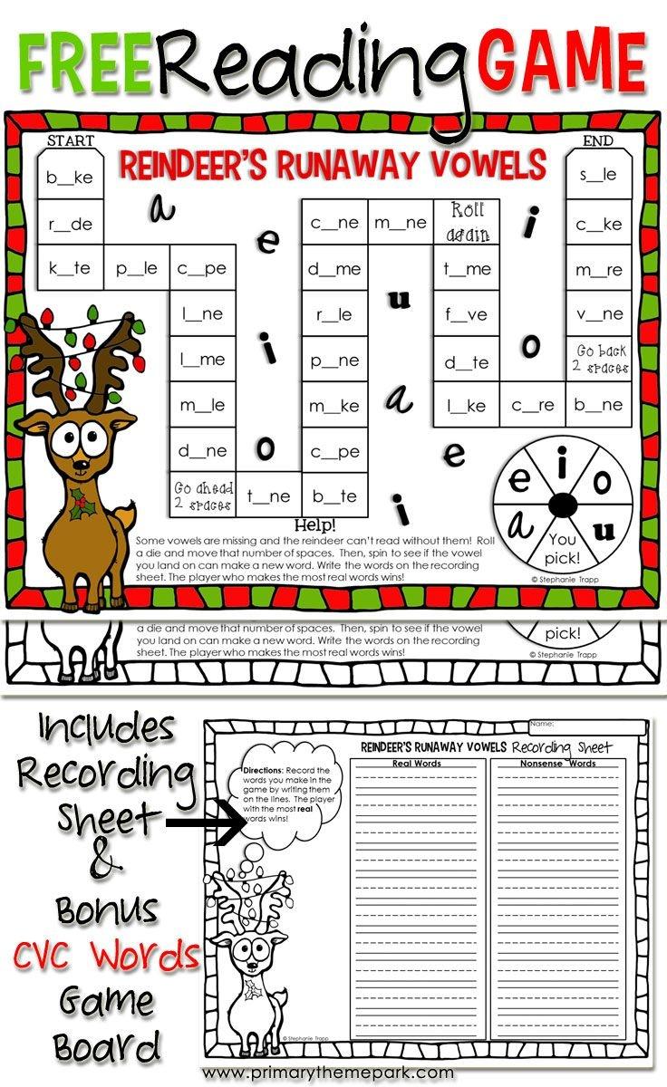 Christmas Reading Game Printable | Educational Finds And Teaching - Free Printable Reading Games For 2Nd Graders