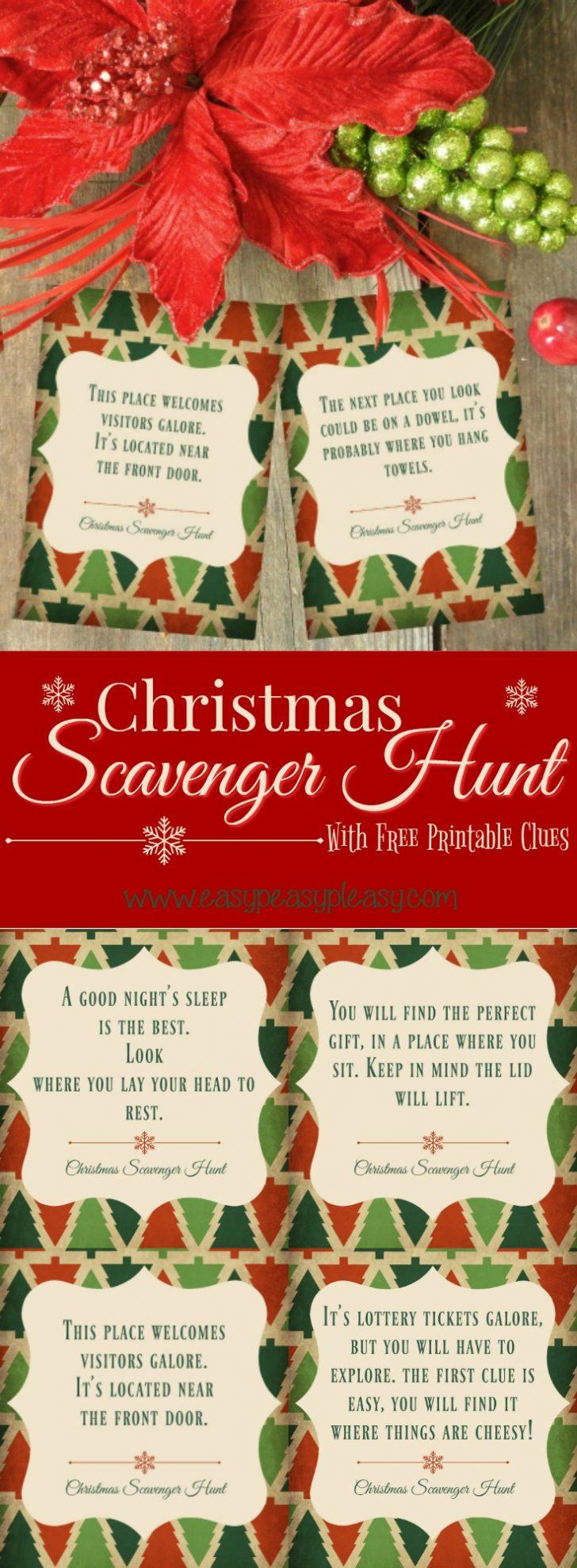 Free Printable Christmas Treasure Hunt Clues
