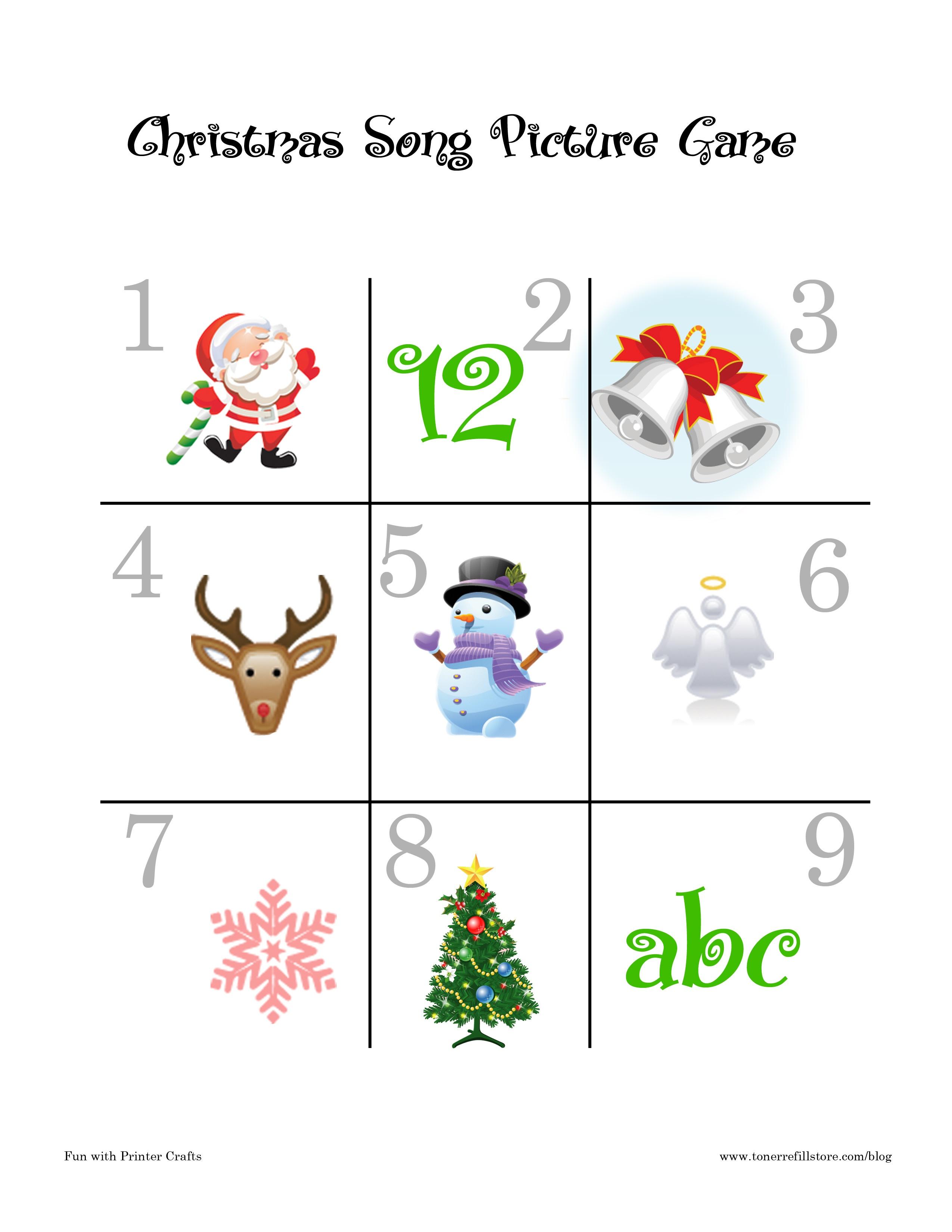 Christmas Song Games : Fun Printable Christmas Games For Kids - Fun - Free Printable Christmas Games For Preschoolers