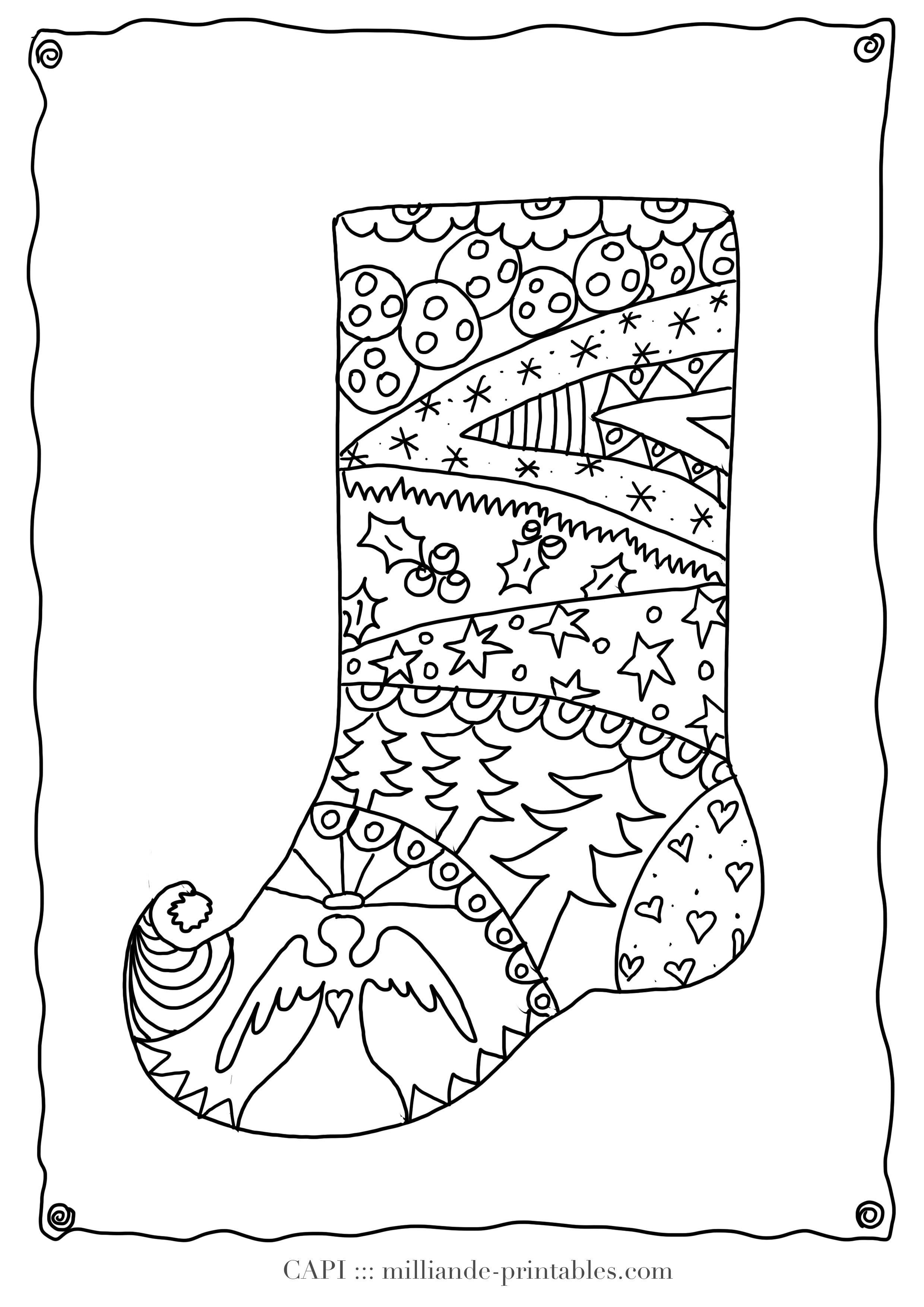 Christmas Stocking To Color Free Printable Christmas Coloring Pages - Free Printable Christmas Coloring Pages For Kids