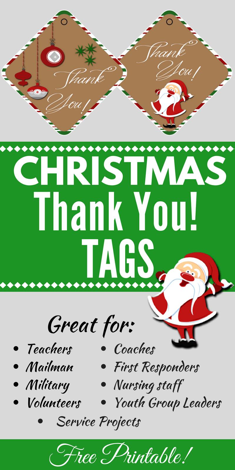 Christmas Thank You Tags Free Printable | Christmas - Food, Crafts - Free Printable Christmas Food Labels