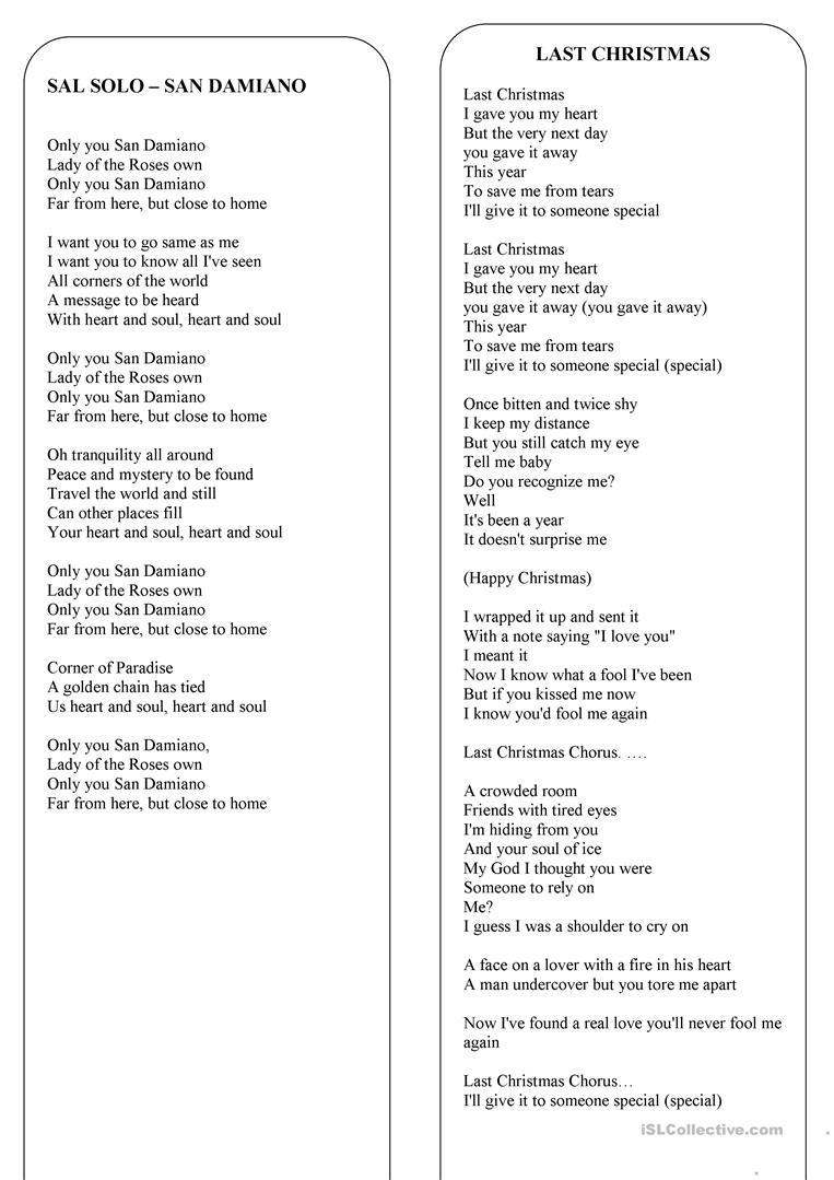 Christmas - The Lyrics Of 8 The Best Christmas Songs And Carols - Free Printable Lyrics To Christmas Carols