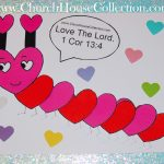 Church House Collection Blog: Heart Caterpillar Valentine's Day   Free Printable Sunday School Crafts