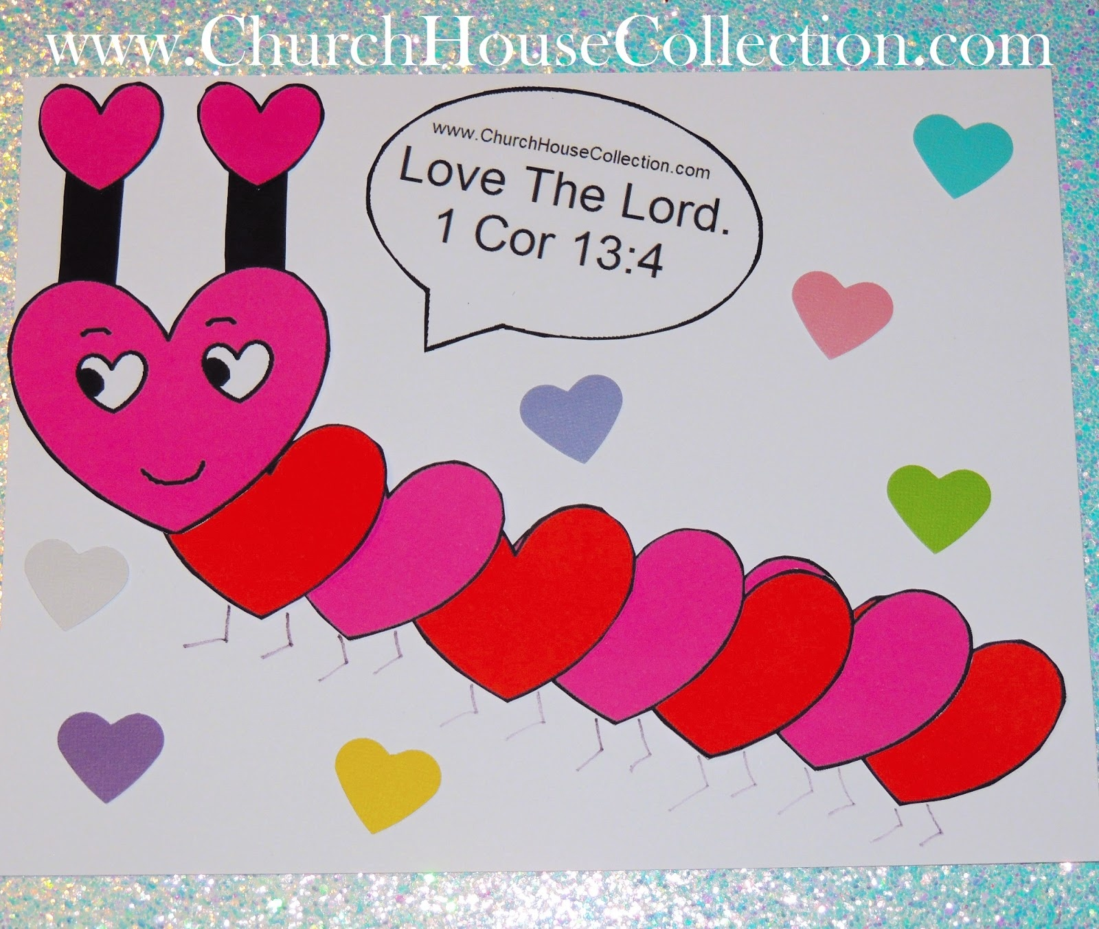 Church House Collection Blog: Heart Caterpillar Valentine's Day - Free Printable Sunday School Crafts