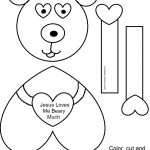 """Church House Collection Blog: """"jesus Loves Me Beary Much   Free Printable Sunday School Crafts"""