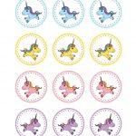 Círculos. | Art Inspiration | Unicorn Cupcakes Toppers, Unicorn   Free Printable Unicorn Cupcake Toppers