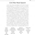 Civil War Word Search   Wordmint   Free Printable Black History Month Word Search