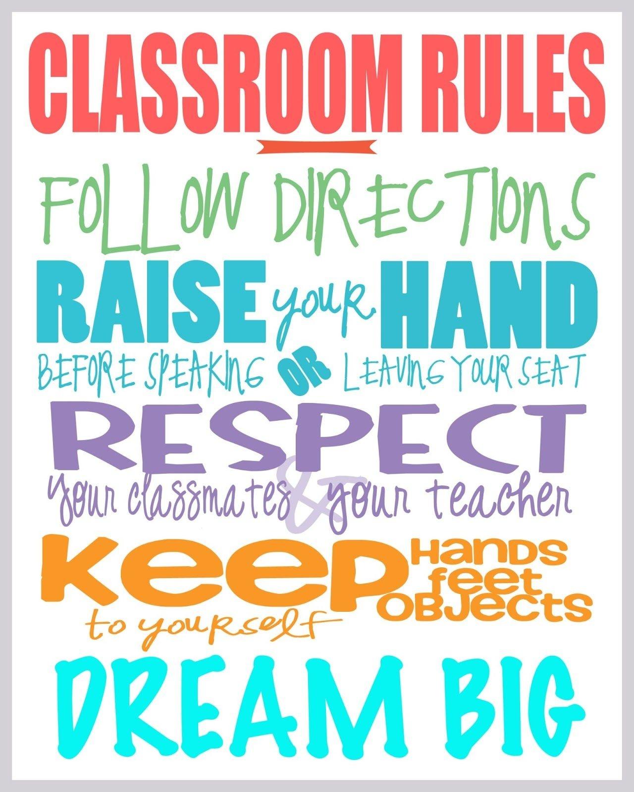 Class Rules Free Printable | Printables | Classroom Rules, Classroom - Free Printable Posters For Teachers